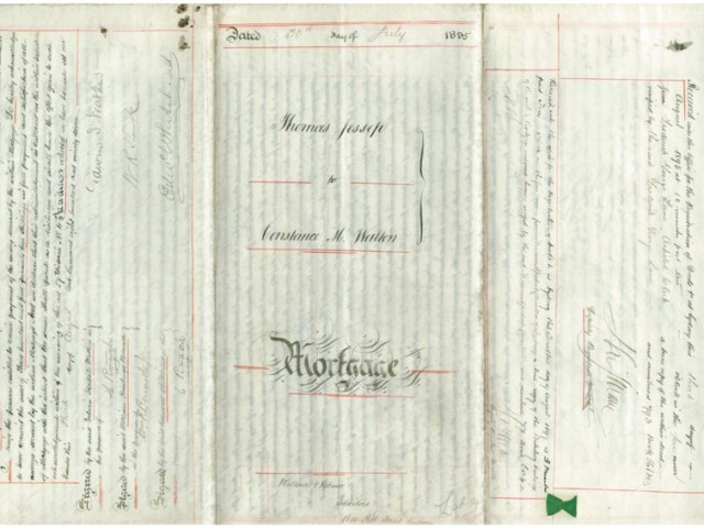 Deed of Mortgage – 20 July 1895